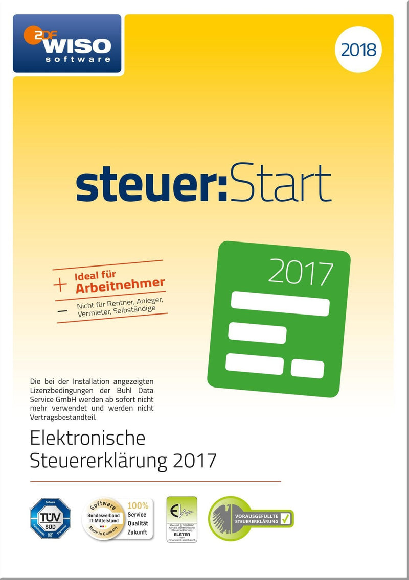 WISO steuer:Start 2018 ESD - Best4software