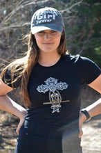 Load image into Gallery viewer, Country Girl Forever Bling Cross Logo Ladies T-Shirts CLEARANCE