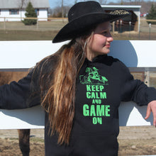 Load image into Gallery viewer, Keep Calm and Game On Black Hoodie