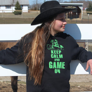 Keep Calm and Game On Black Hoodie