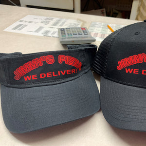 Jimmy's Pizza Vinyl Logo Visor