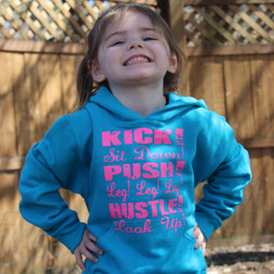 Kick, Sit Down, Push, Leg Leg Leg, Hustle, Look Up Logo Hoodie Sweatshirt CLEARANCE