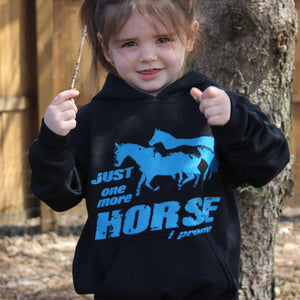 Just One More Horse I Promise Black Hoodie Sweatshirt