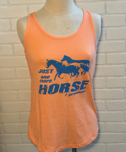 Just One More Horse I Promise Ladies Flowy Tank