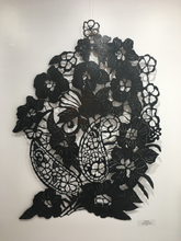 Load image into Gallery viewer, Wall hanging metal sculpture by Jasmine Rutschmann