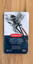 Load image into Gallery viewer, Derwent Sketch Collection, Metal Tin - 12 piece set