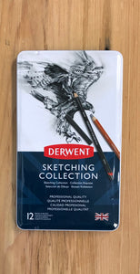 Derwent Sketch Collection, Metal Tin - 12 piece set