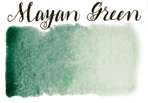 Stoneground - Mayan Green (Earth Colour - Half Pan)