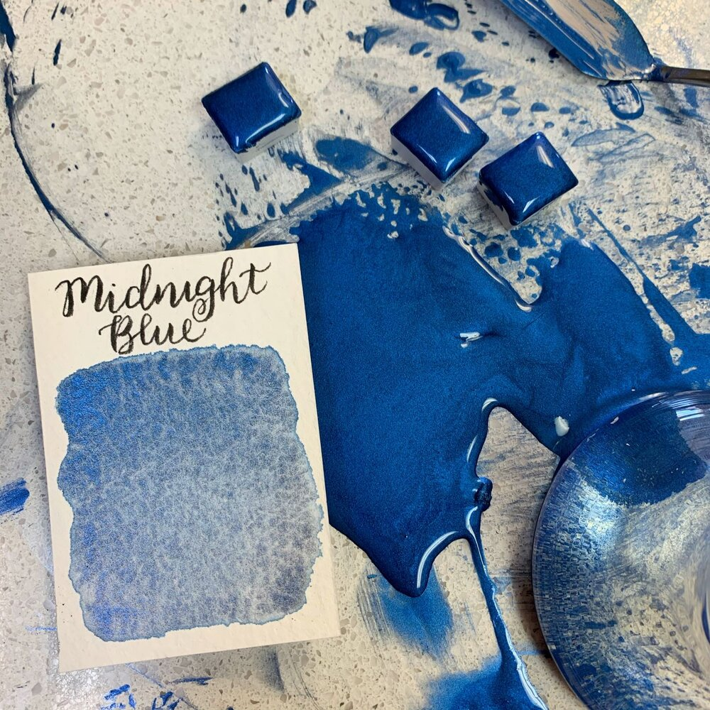 Stoneground - Midnight Blue (Pearlescent Colour - Half Pan)