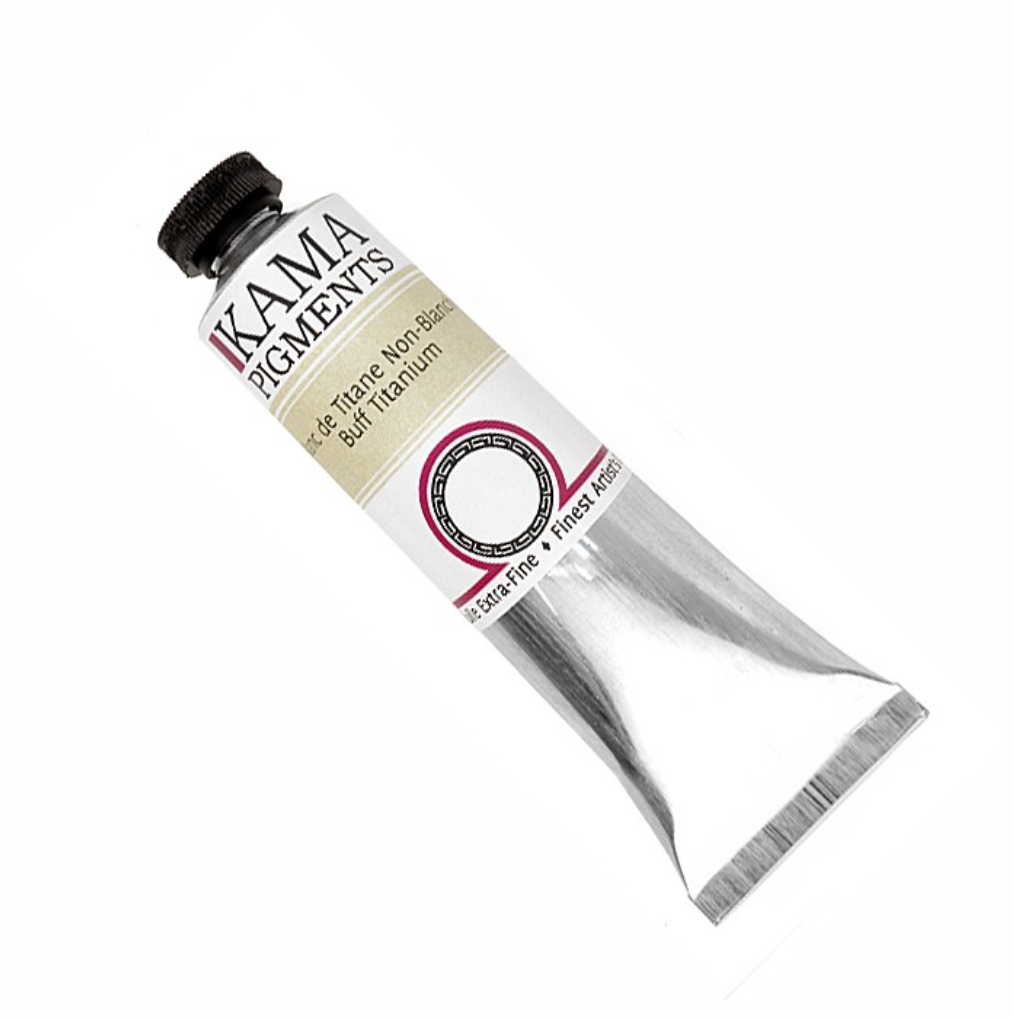 Kama Buff Titanium Oil Paint