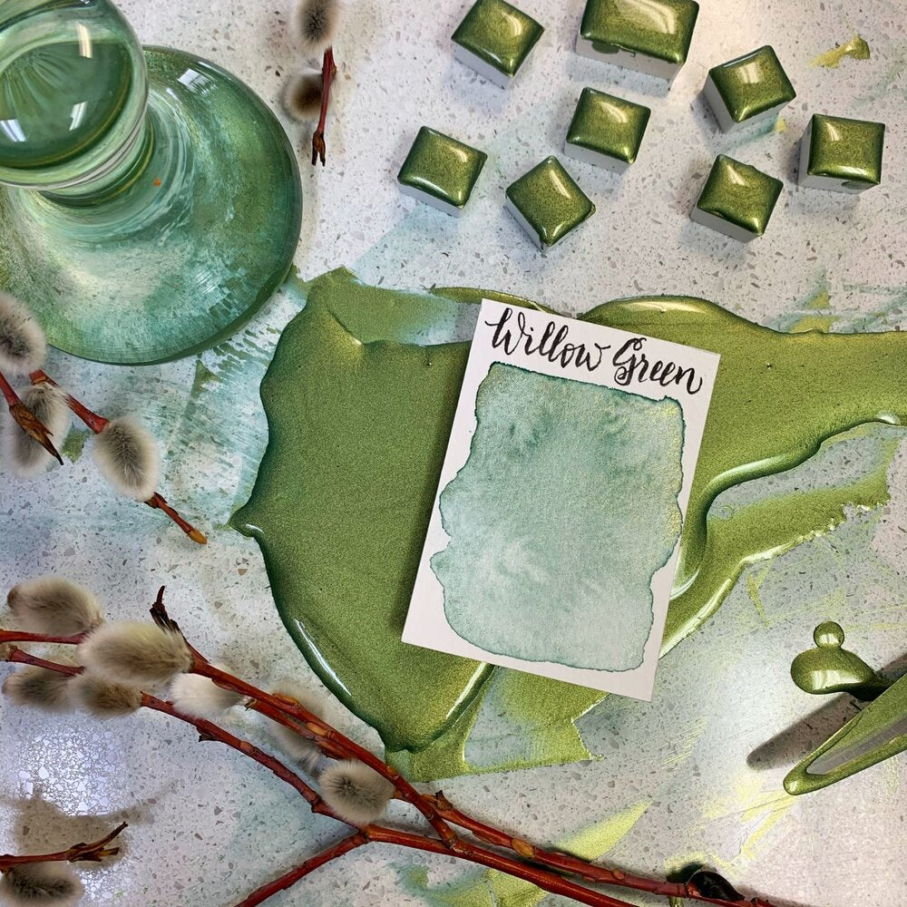 Stoneground - Willow Green (Pearlescent Colour - Half Pan)