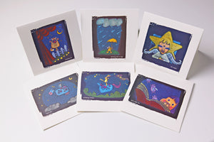 6 Pack - Embossed greeting cards by Wendy Cho, Once Upon a Design