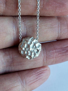 Luna, Textured Sterling Silver Pendant by Monique Van Wel