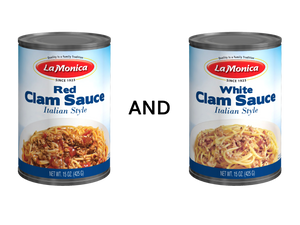 Variety Pack - Red and White Clam Sauce