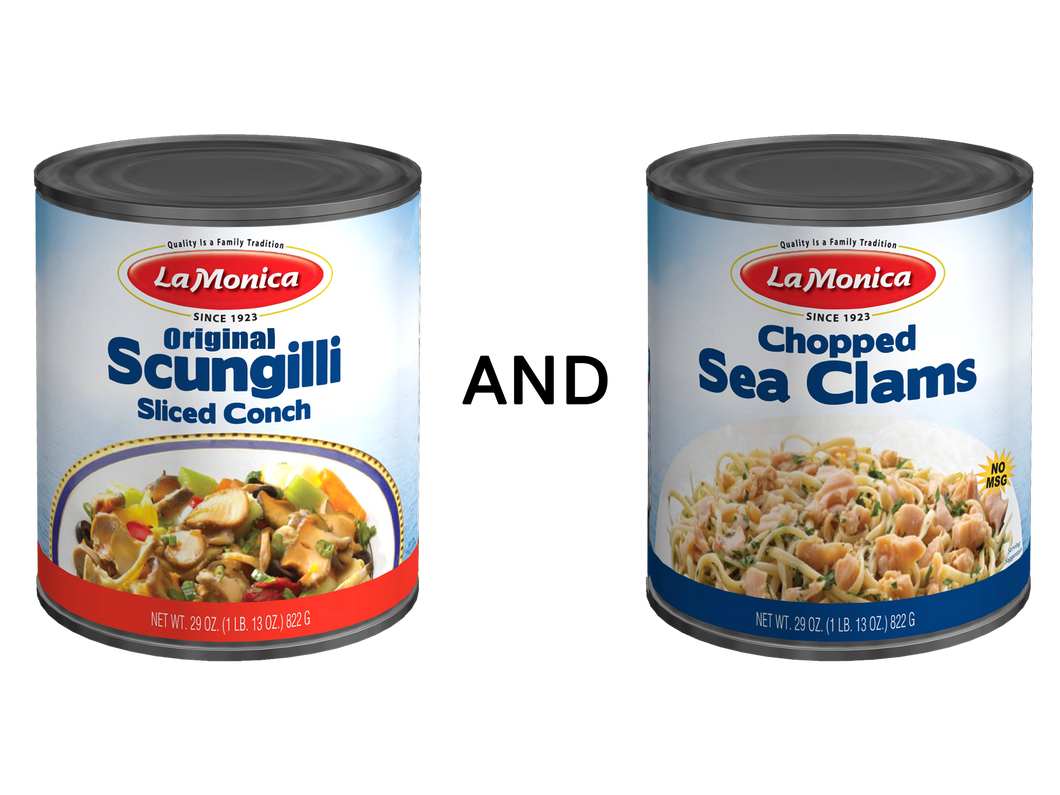 Variety Pack - Original Scungilli and Chopped Sea Clams
