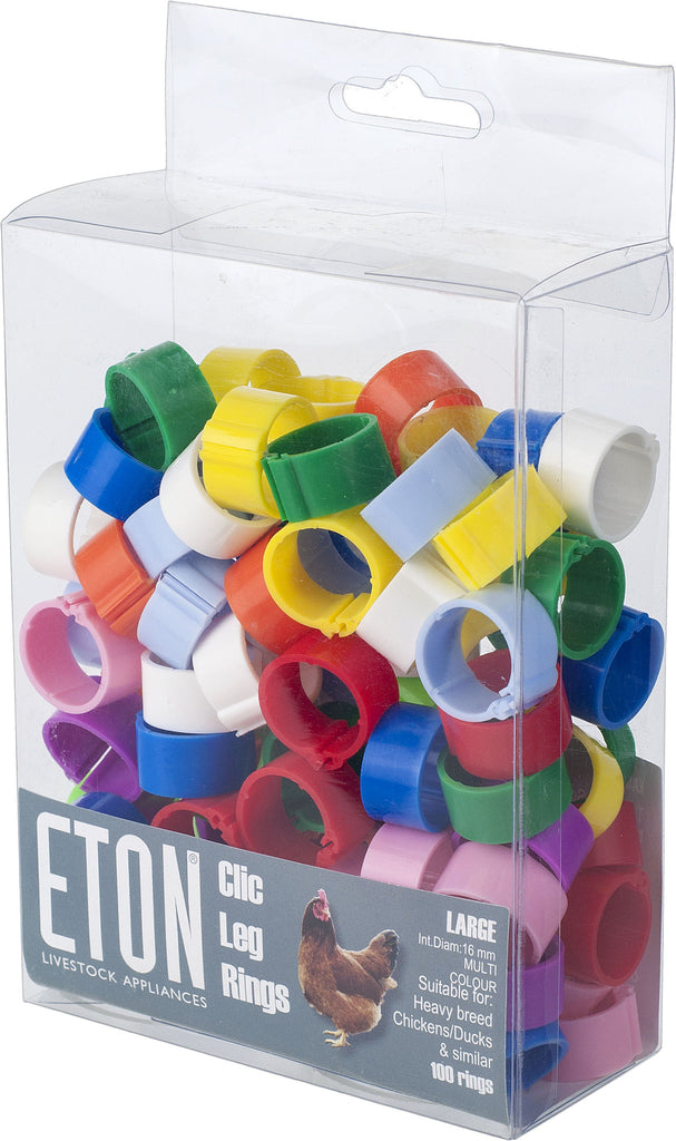Eton Clic Leg Rings (Pack of Assorted Colours)