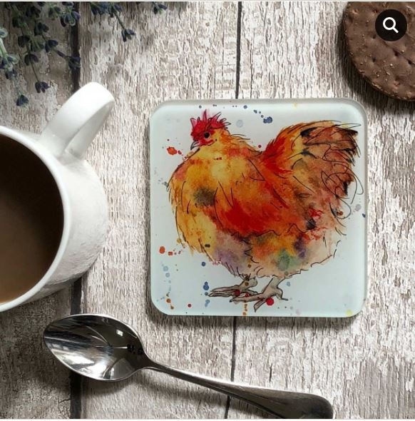 Brown Hen Coaster