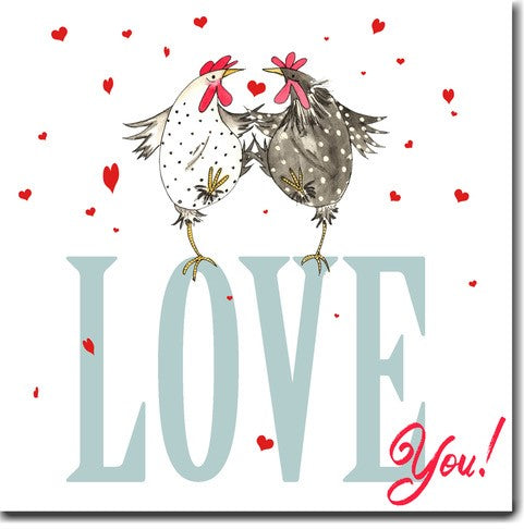 Skinny Card Co Love You! Chicken Card