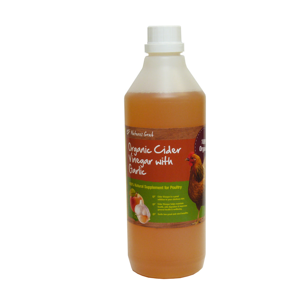 Cider Vinegar with Garlic 1ltr by Natures Grub
