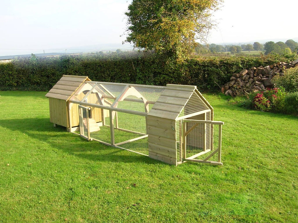 Hen House with 6ft run with sheltered end (inc delivery)