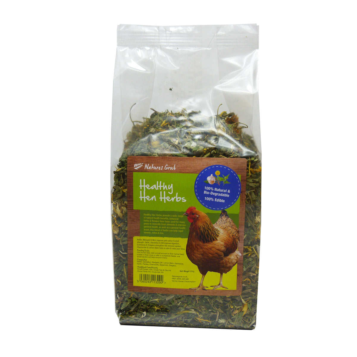 Healthy Hen Herbs by Nature's Grub