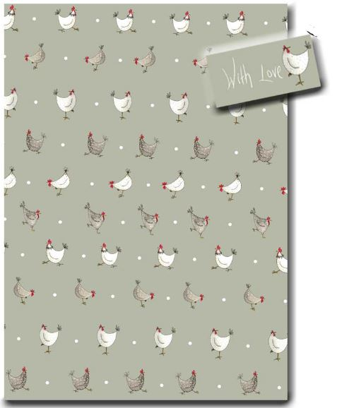 Multi Chicken & Spot Wrapping Paper