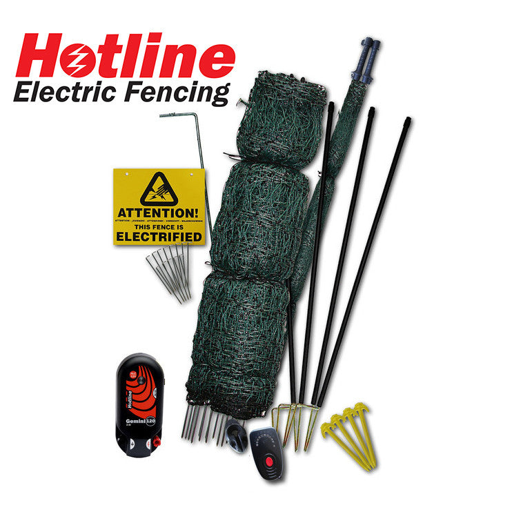 Single battery electric fencing kit