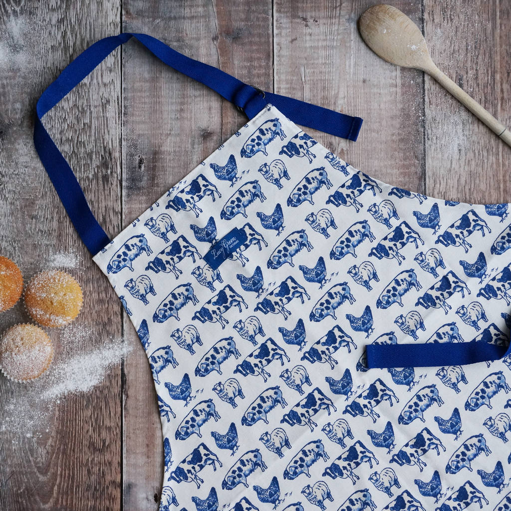 Farm Animals Cotton Apron