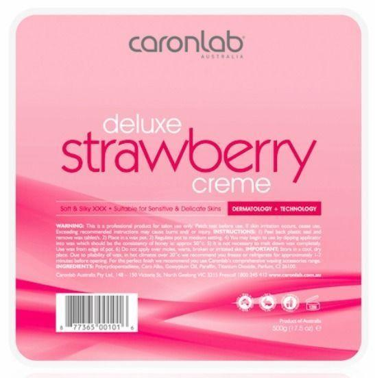 Caronlab Strawberry Creme Hard Hot Wax Pallet Tray 500g