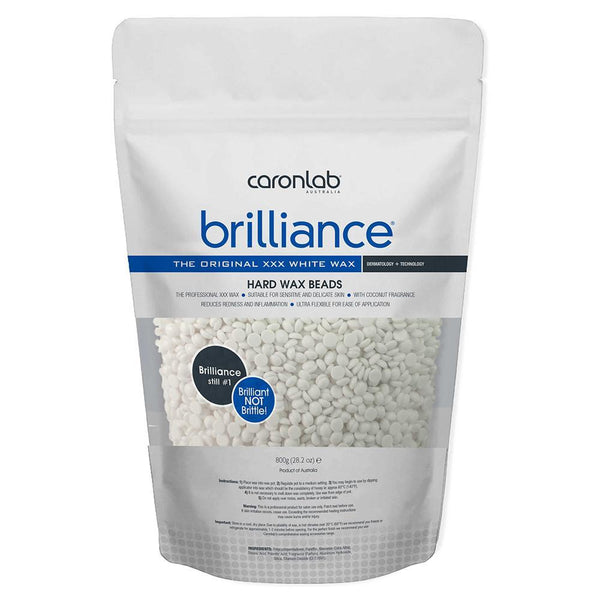 Caronlab Brilliance Hard Wax Beads - White (800g)