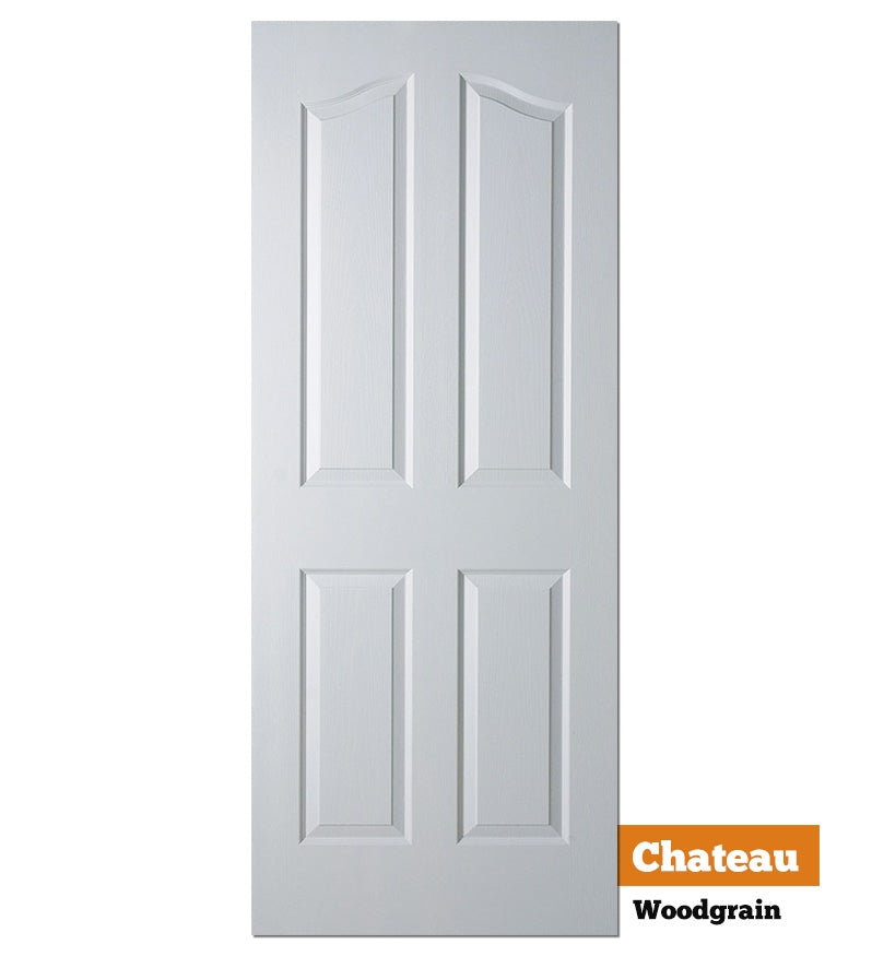 Moulded Panel Woodgrain Chateau (4 Panel Woodgrain) - Solid Core