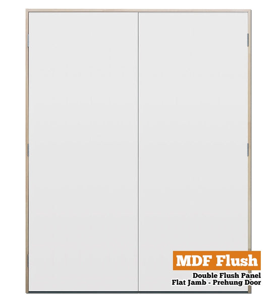 MDF Flush Panel Pine - Double - Flat Jamb - 70mm Stud
