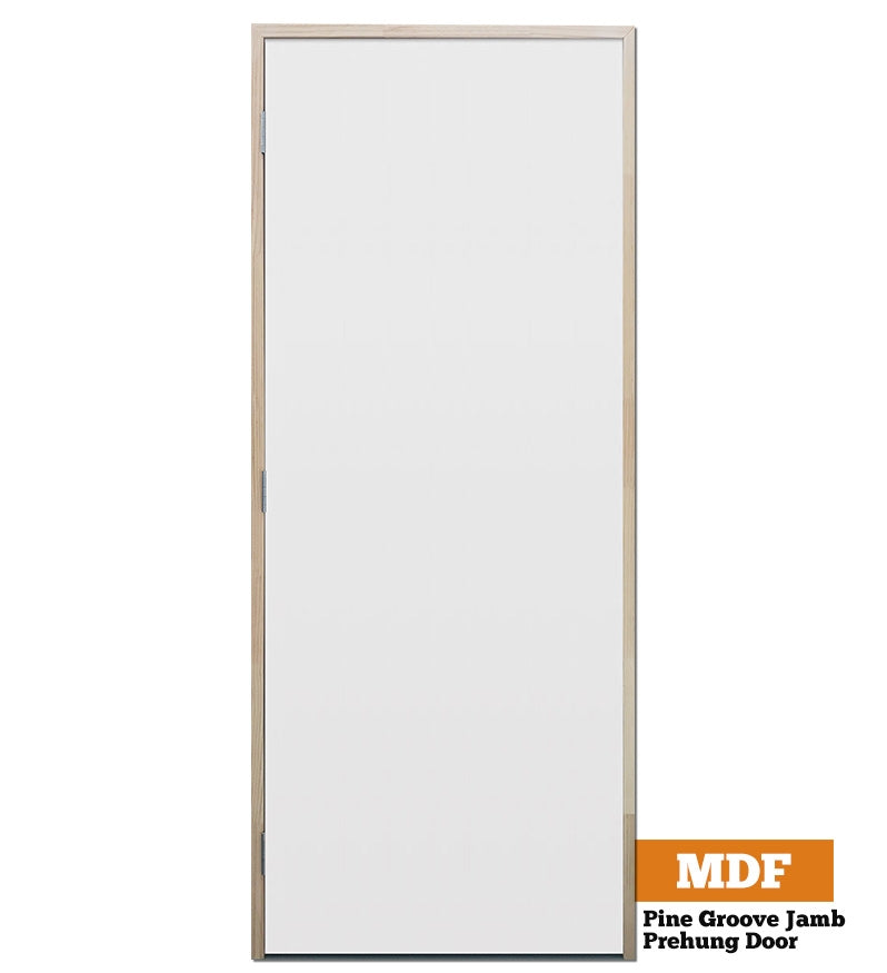 MDF Flush Panel Pine - Groove Jamb - 90mm Stud