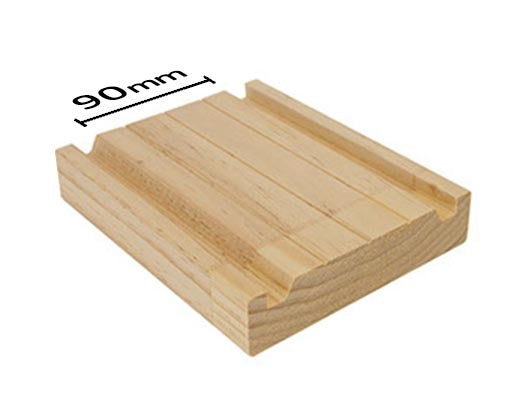 MDF Flush Panel Pine - Double - Groove Jamb - 90mm Stud