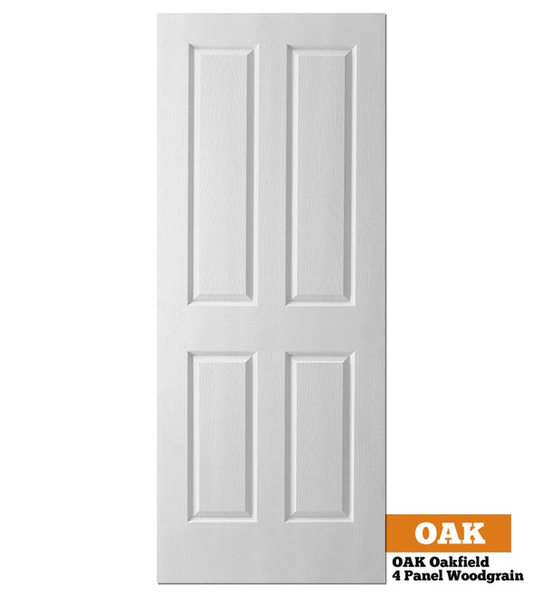 OAK Oakfield (4 Panel Woodgrain) - Hollow Core