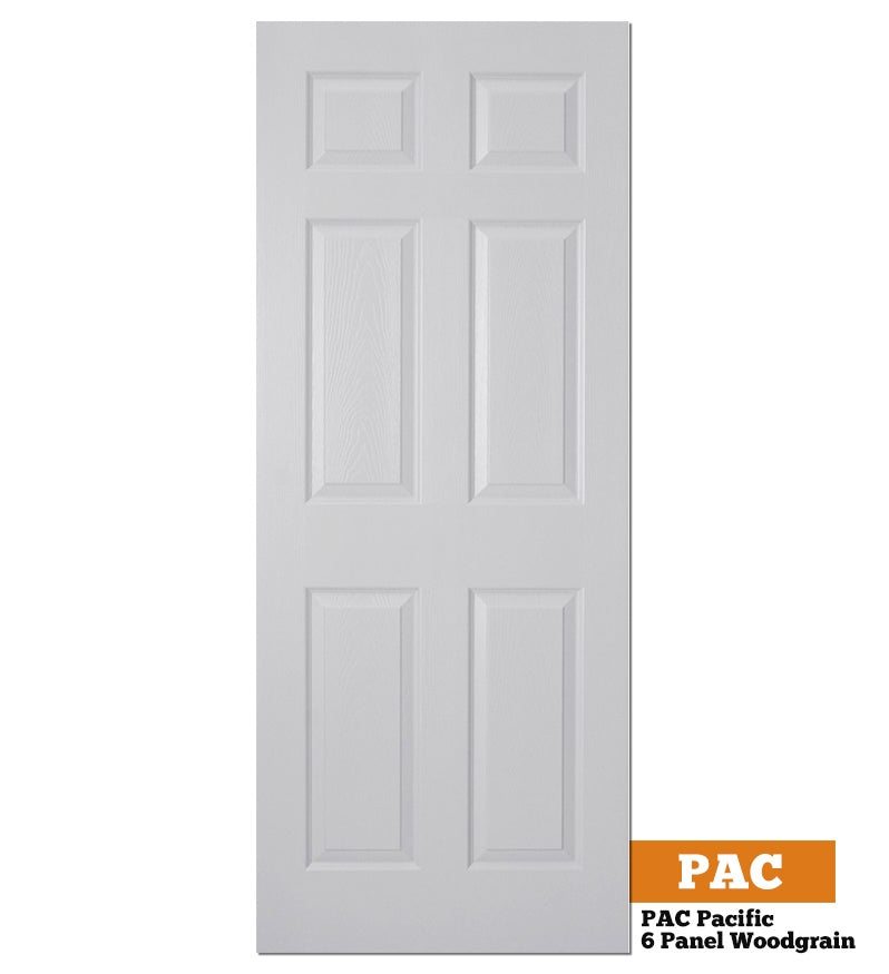 Moulded Panel Woodgrain Pacific (6 Panel Woodgrain) - Solid Core