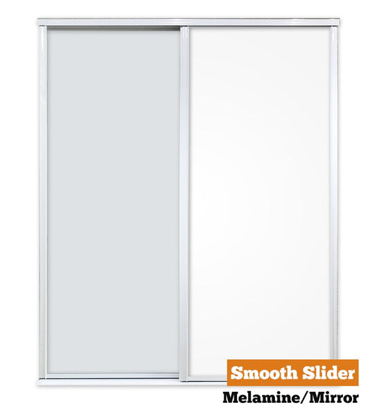 Smooth Sliders - Double - Melamine-Mirror