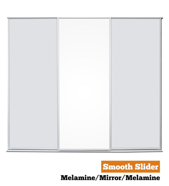 Smooth Slider - Triple - Melamine-Mirror-Melamine