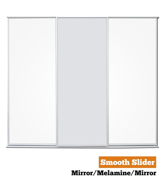 Smooth Slider - Triple - Mirror-Melamine-Mirror