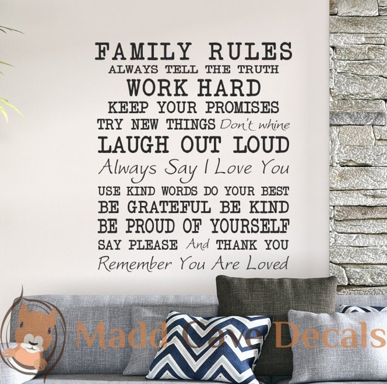 Family Rules - Wall Art