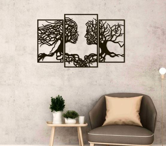 Face of Roots - Wall Art