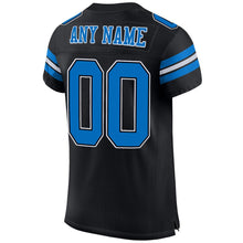 Load image into Gallery viewer, Custom Black Panther Blue-White Mesh Authentic Football Jersey
