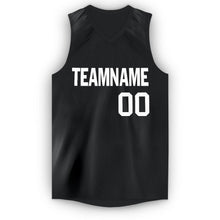 Load image into Gallery viewer, Custom Black White V-Neck Basketball Jersey
