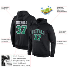 Load image into Gallery viewer, Custom Stitched Black Kelly Green-White Sports Pullover Sweatshirt Hoodie