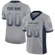 Load image into Gallery viewer, Custom Light Gray Navy-White Mesh Drift Fashion Football Jersey
