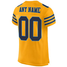 Load image into Gallery viewer, Custom Gold Navy-Powder Blue Mesh Authentic Football Jersey