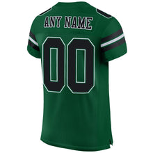 Load image into Gallery viewer, Custom Gotham Green Black-White Mesh Authentic Football Jersey