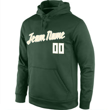 Load image into Gallery viewer, Custom Stitched Green White-Cream Sports Pullover Sweatshirt Hoodie