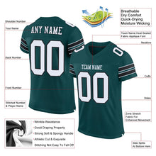 Load image into Gallery viewer, Custom Midnight Green White-Black Mesh Authentic Football Jersey