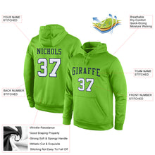 Load image into Gallery viewer, Custom Stitched Neon Green White-Navy Sports Pullover Sweatshirt Hoodie